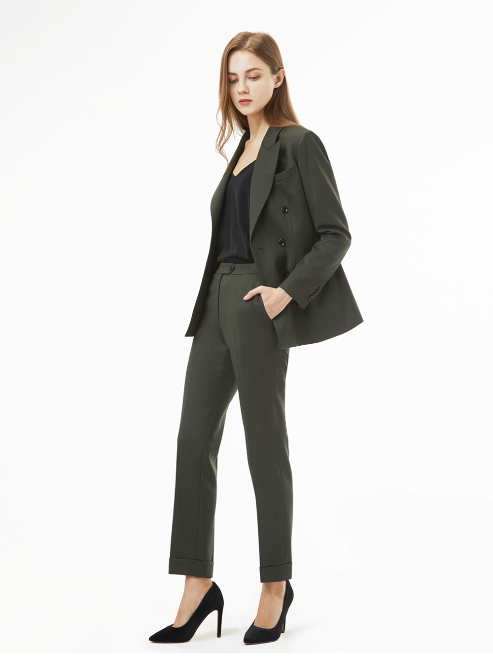 Holland&Sherry Dakota Gaberdine Suit (카키)