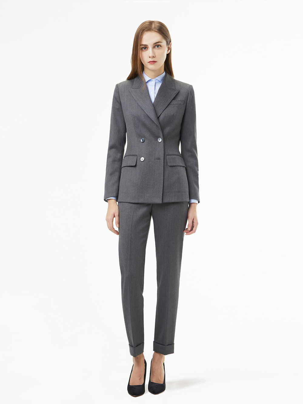 Holland&Sherry Dakota Gaberdine Suit (그레이)