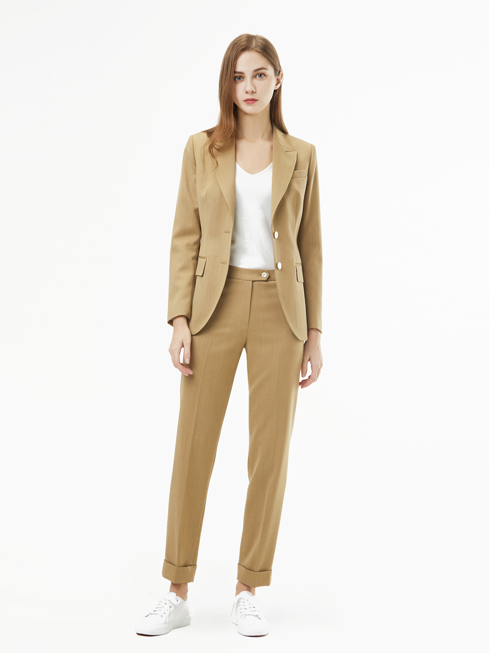 Holland&Sherry Dakota Gaberdine Suit (베이지)