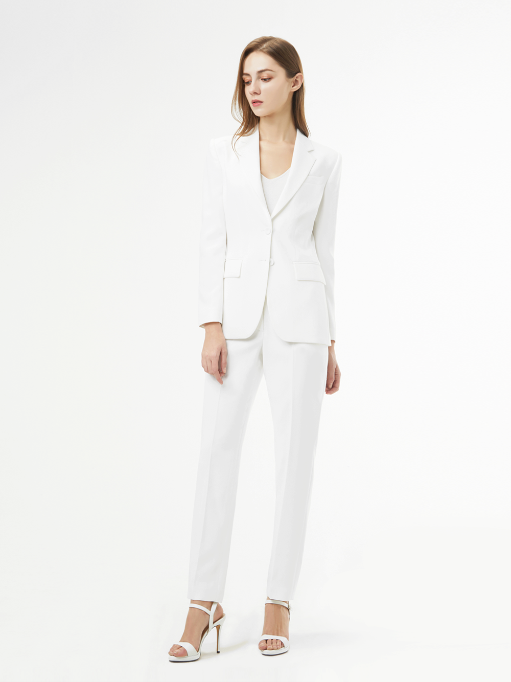 White SIngle Suit